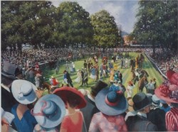Ladies day royal ascot by Sherree Valentine Daines - Limited Edition on Paper sized 18x14 inches. Available from Whitewall Galleries
